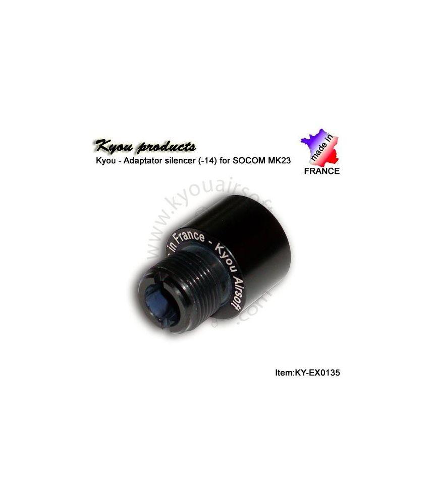 Adaptateur de silencieux pour Mk23 Socom (14-)