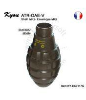 Coque type Mk2 quadrillée 85dB pour grenade ATR-OAE-V