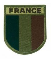 Ecusson brodé France basse visibilité vert