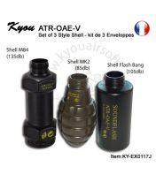 Kit 2 coques pour grenade CO2 ATR-OAE-V
