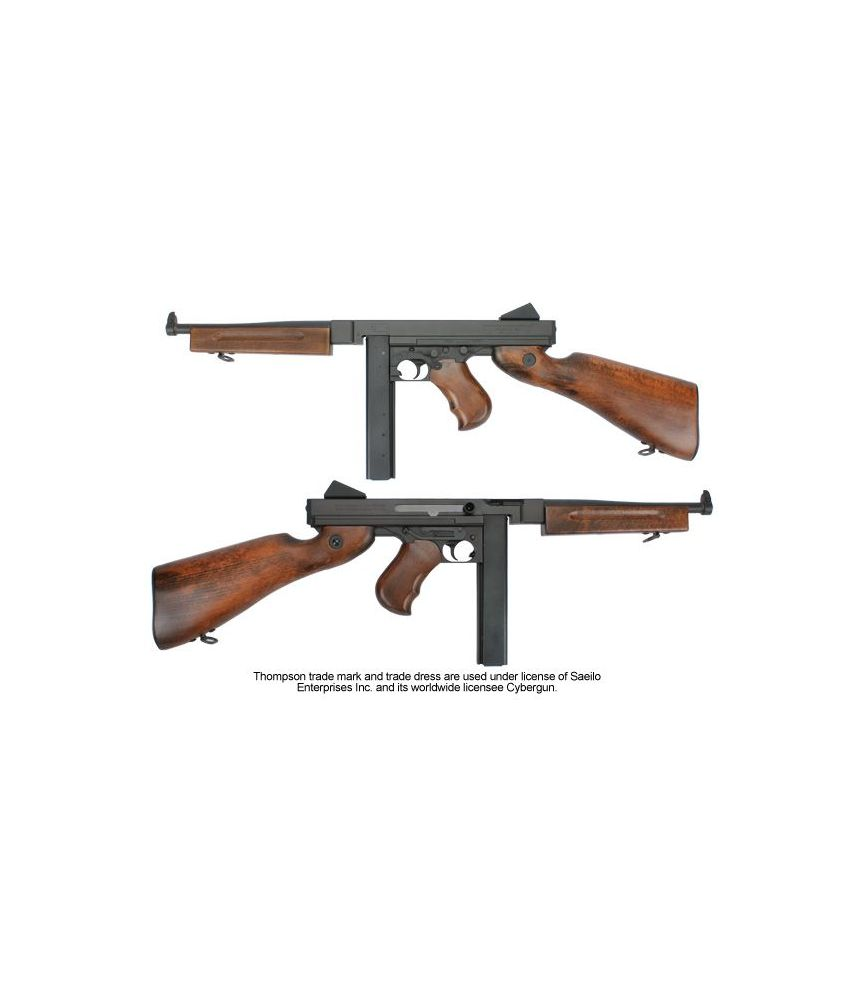 Thompson M1A1 Military - Full metal et bois